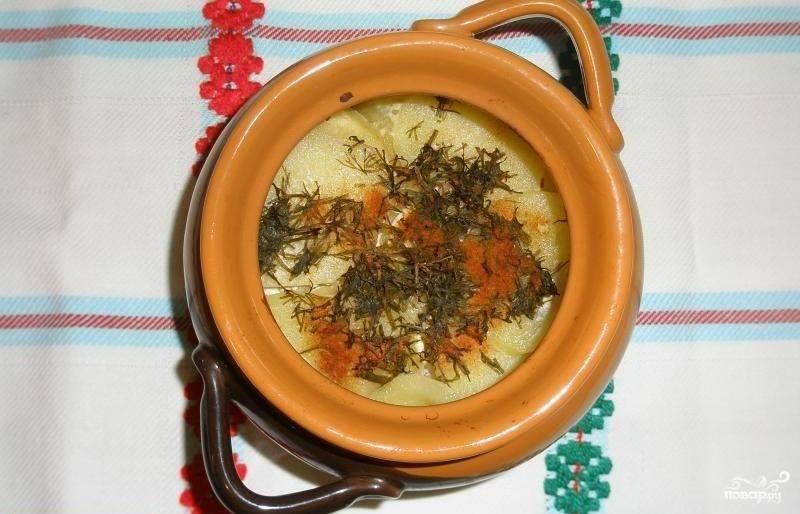 Картофель со сметаной в горшочках