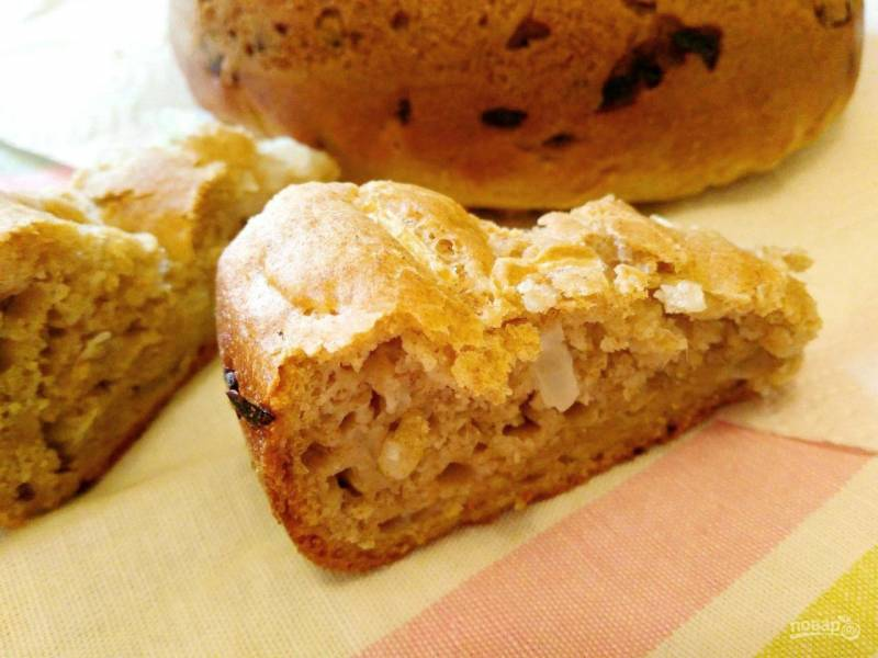 Луковый хлеб из жидкого теста