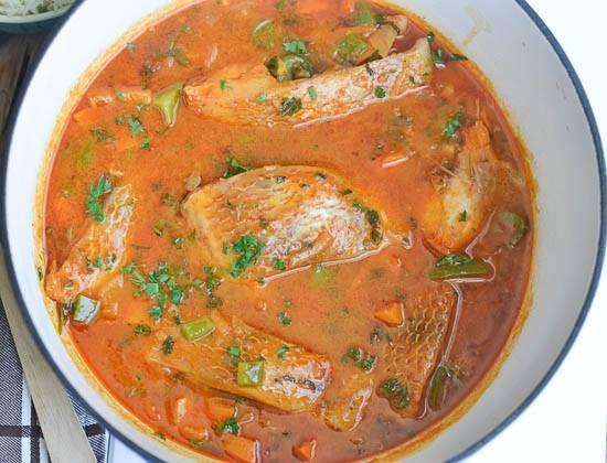Рыбный суп с томатной пастой