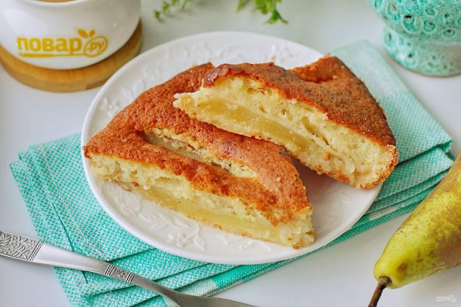 Грушевый пирог на кефире