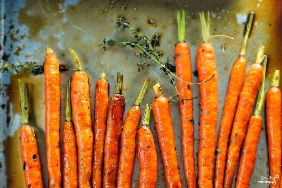 Морковь в духовке
