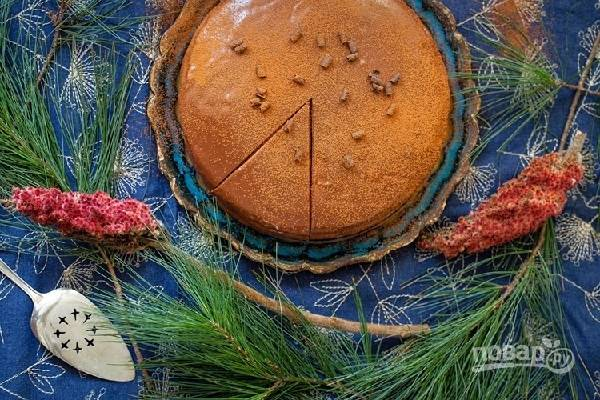 9. Вот такая красота. Оставьте тортик на ночь, чтобы он как следует пропитался. Приятного чаепития!