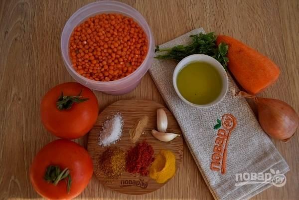 Подготовьте необходимые продукты.