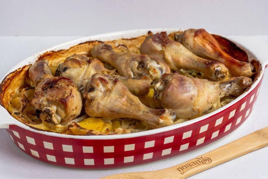 Вкусное и сытное блюдо готово! Подавайте со свежими овощами.