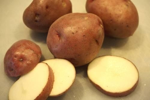 Картофель помыть и порезать кружочками.