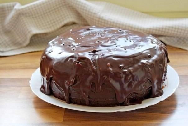 Тортик покройте ганашем.