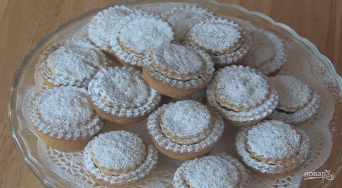 Рождественские корзиночки (печенье)