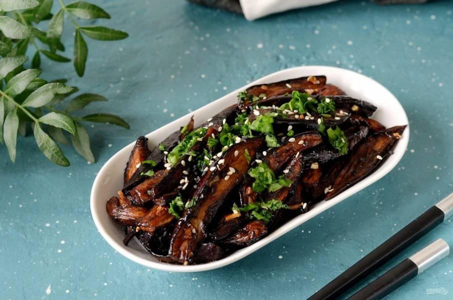 Карамелизированные баклажаны готовы, приятного вам аппетита!