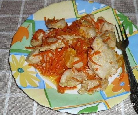 Куриная грудка с морковью