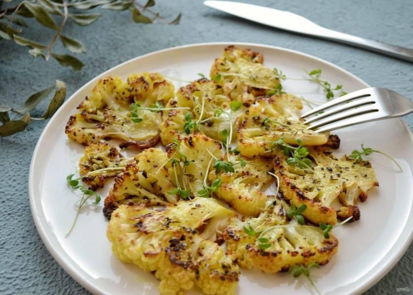 Стейки из цветной капусты готовы, приятного аппетита!