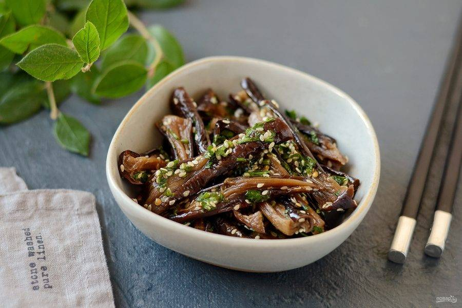 Баклажаны вяленые по-корейски готовы, приятного аппетита!