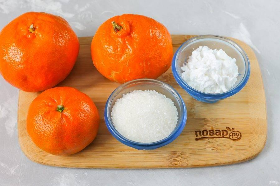Подготовьте указанные ингредиенты. Фрукты можно использовать любые, но не очень кислые.