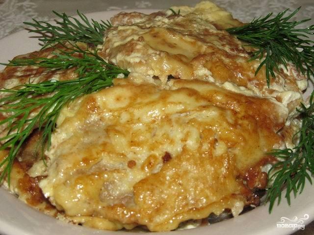 Отбивные из говядины с сыром