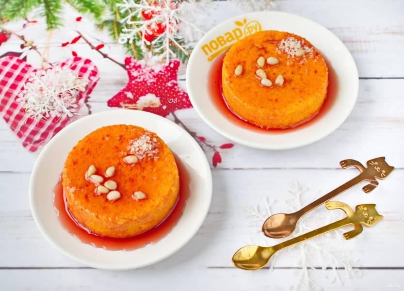 Морковное суфле с манкой