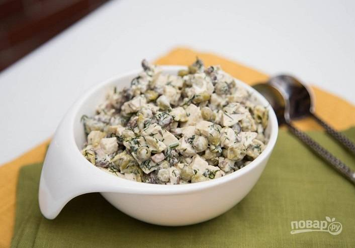 Салат из грибов и курицы