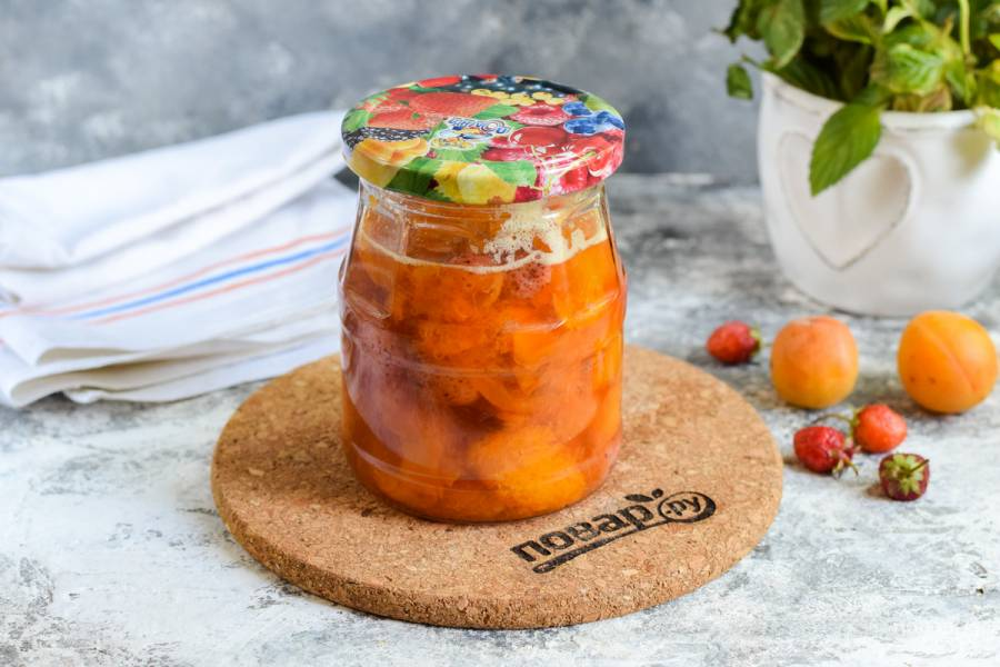 Варенье из клубники с абрикосами