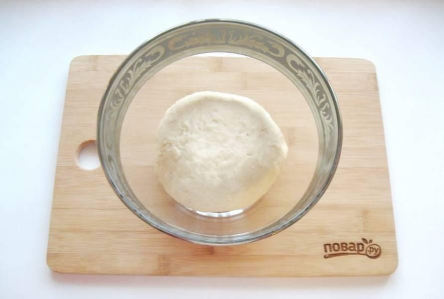 Постепенно всыпьте просеянную муку и замесите мягкое, эластичное тесто.