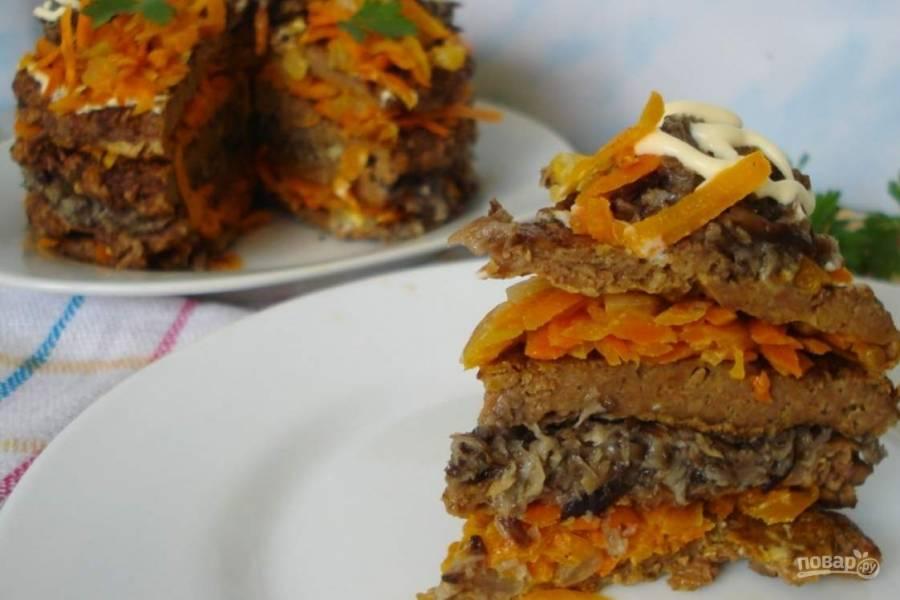 Простой рецепт печеночного торта