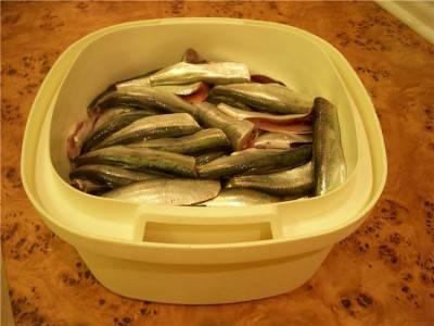 1. Рыбу размораживаем, чистим и отрезаем головы.