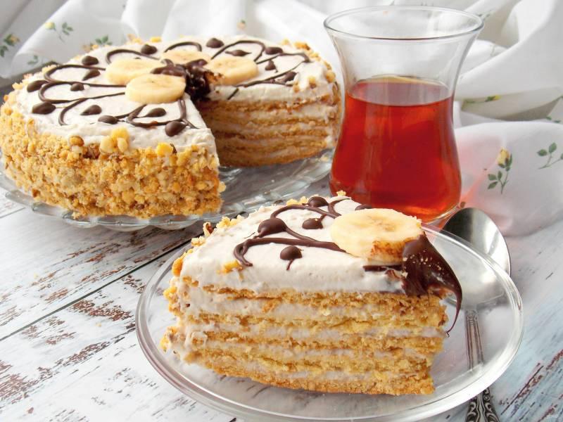 Медово-песочный торт