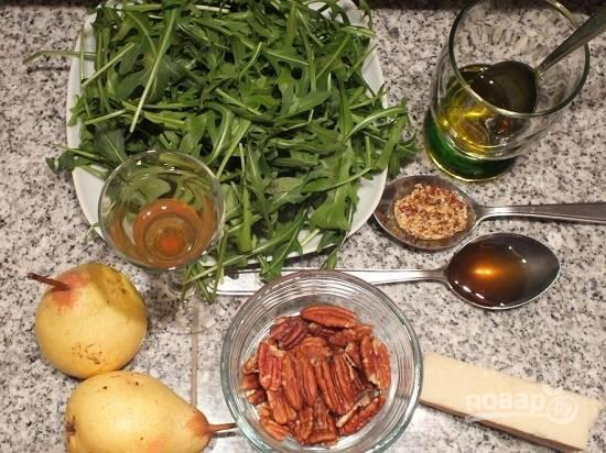 Вот все продукты, которые нам понадобятся для приготовления салата. Делаем две большие порции.