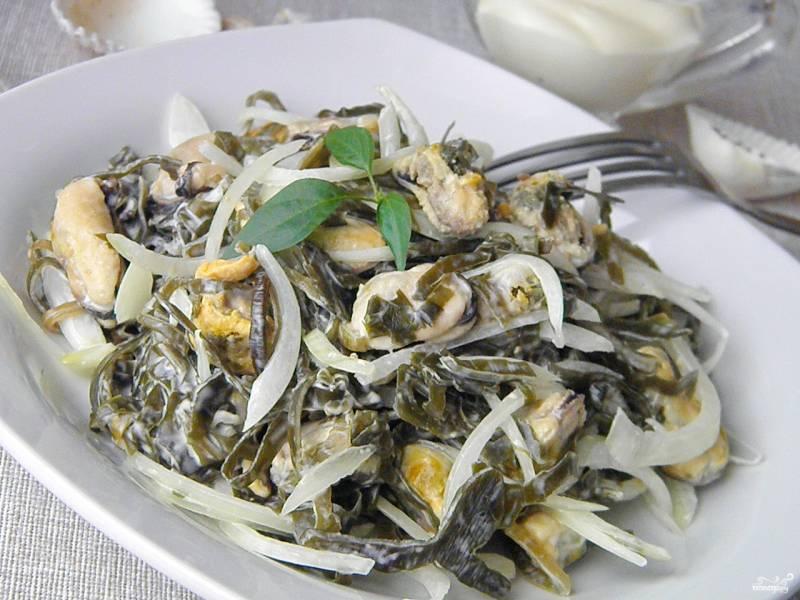 Салат из мяса мидий