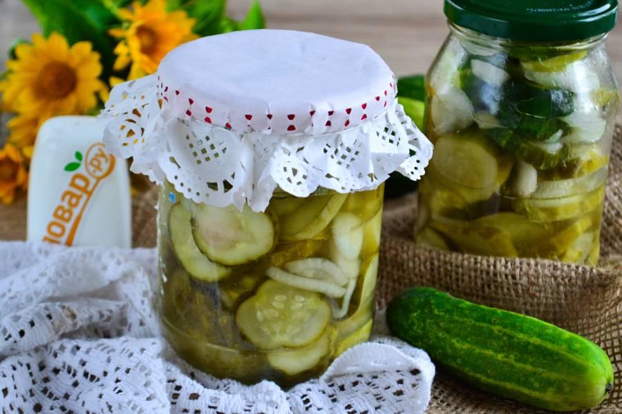 Салат из огурцов с маслом