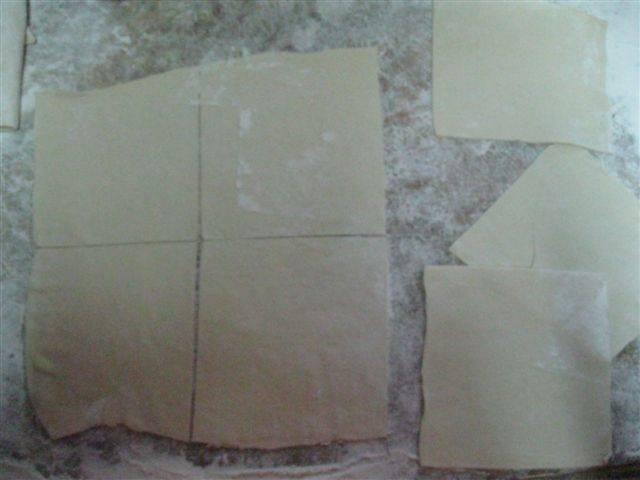 7. Нарезать небольшими квадратиками.