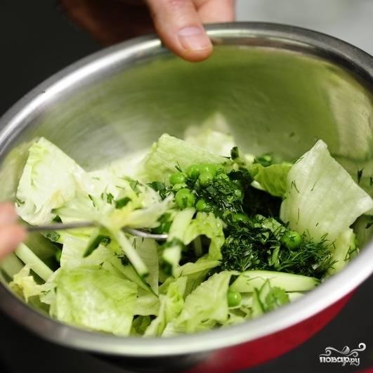 Перемешиваем - и восточный салат готов!