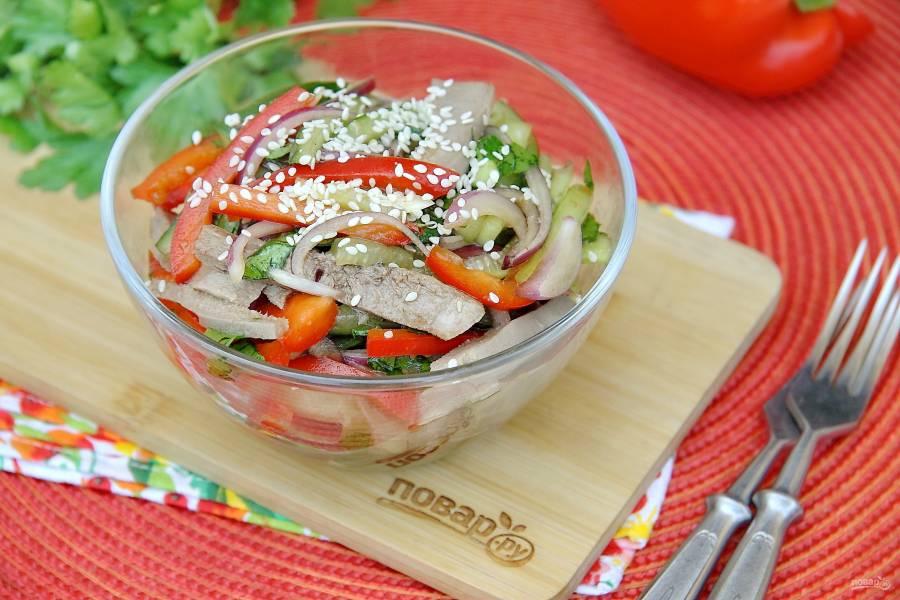 Китайский салат с языком
