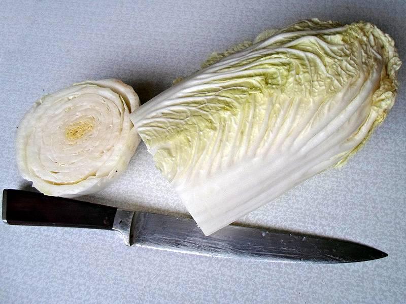 Для начала очистите лук, морковь, отделите листы капусты.