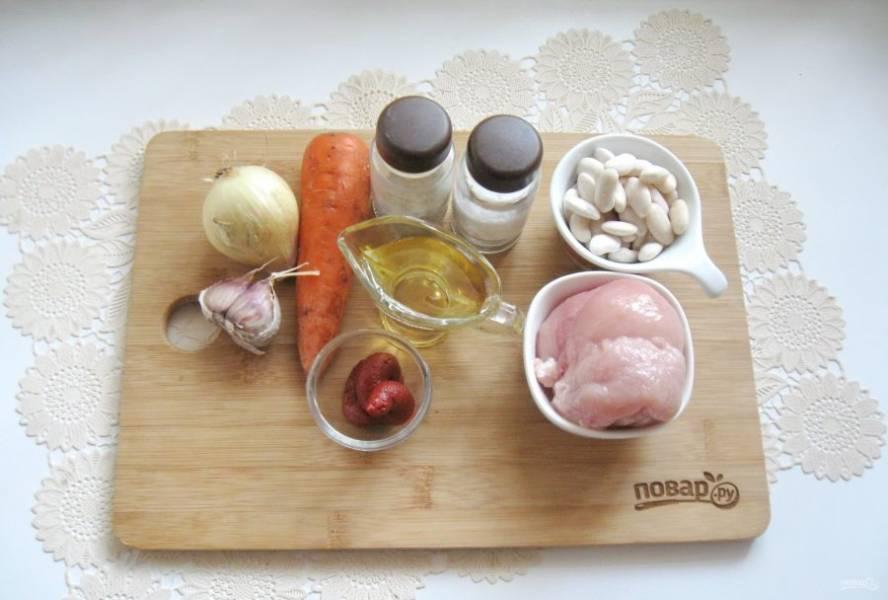 Подготовьте ингредиенты для приготовления косуле.