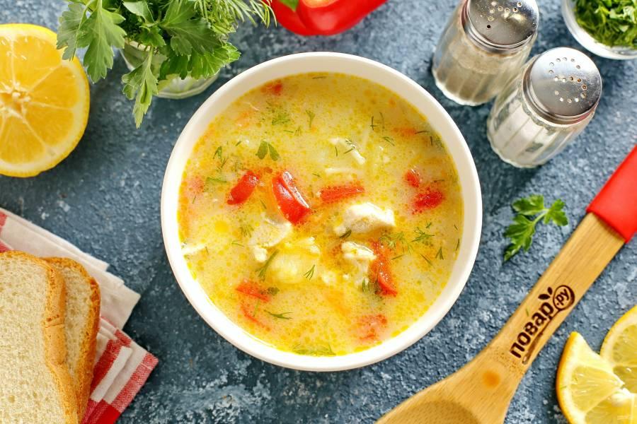 Куриный суп по-болгарски