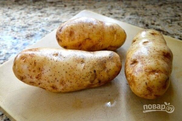1.Хорошенько вымойте картошку в кожуре.