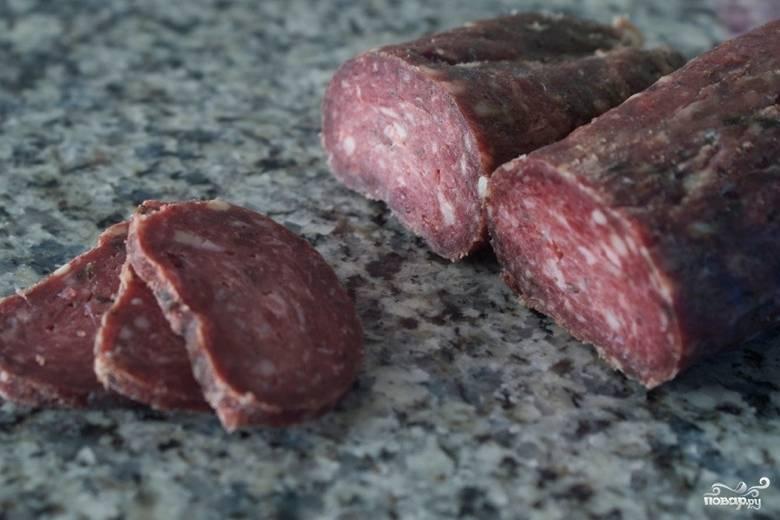 Колбаса из оленины