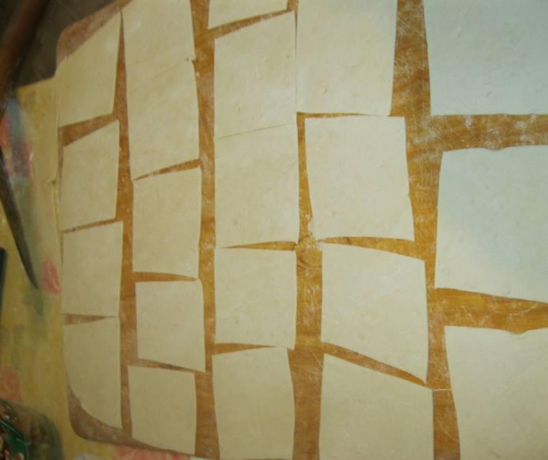 Делаем квадратики большие - 15 на 15 см.