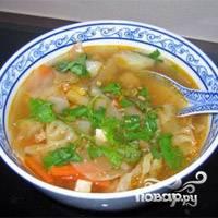 Суп готов. При подаче посыпать зеленью. Можно добавить в тарелку сметаны. Приятного аппетита!