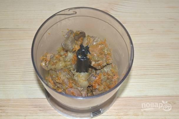 7. Сразу же переложите небольшую порцию в блендер.