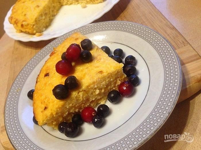 Тыквенно-творожный пирог ПП