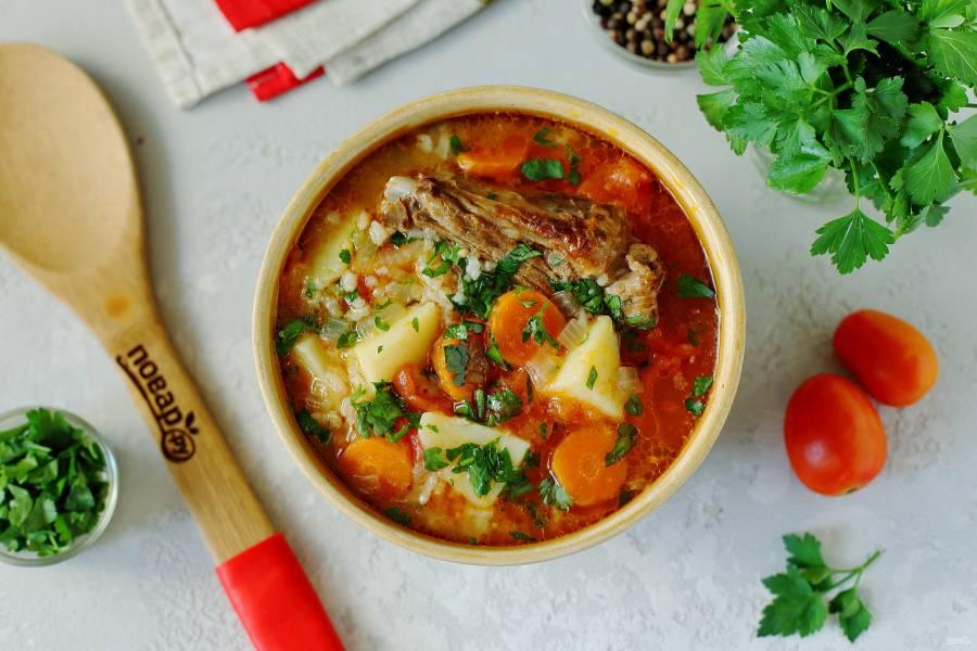 Узбекский рисовый суп
