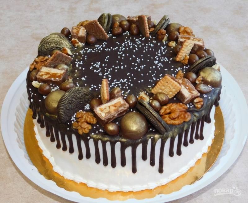 Торт с подтеками