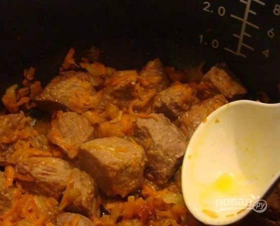 6. Не забывайте периодически помешивать мясо с овощами.
