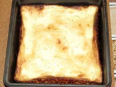 Поставьте форму в заранее разогретую до 180 градусов духовку и запекайте минут 25-35 до образования золотистой корочки.