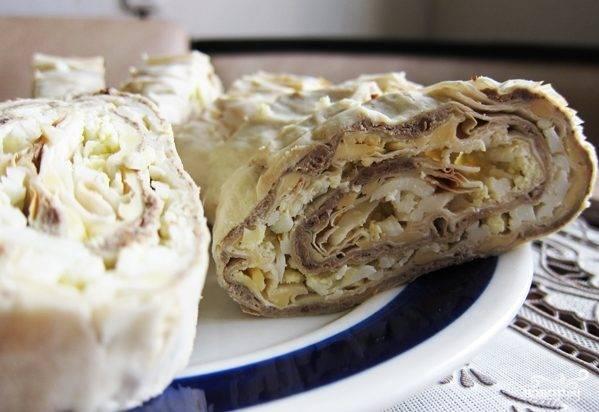 Печеночный паштет из говяжьей печени в лаваше
