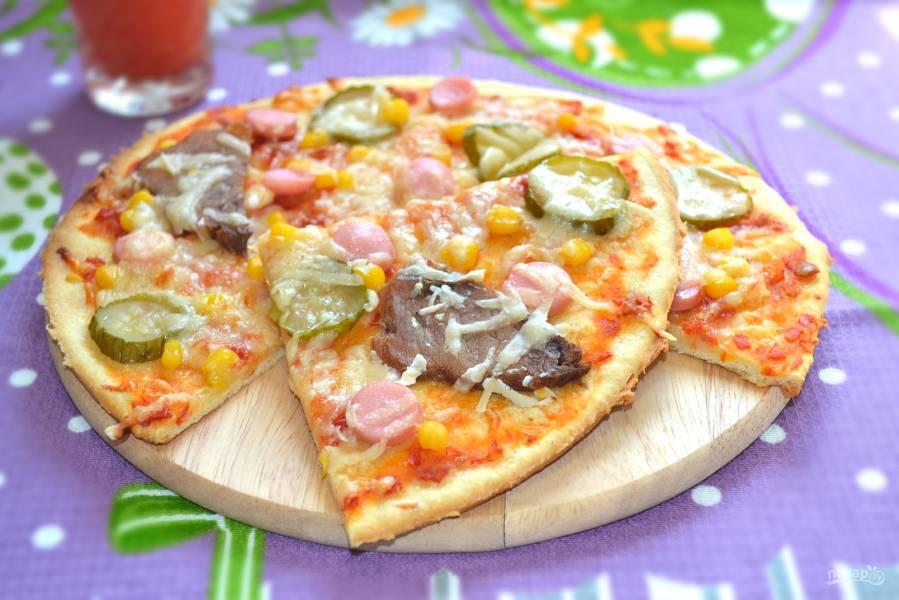 Пицца на ржаном тесте