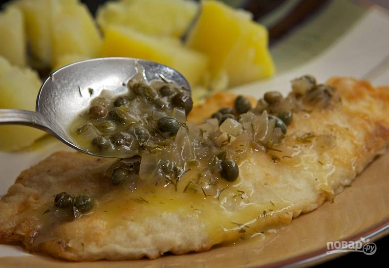 Хорошенько перемешайте соус — и все готово, можно подавать его к рыбке.