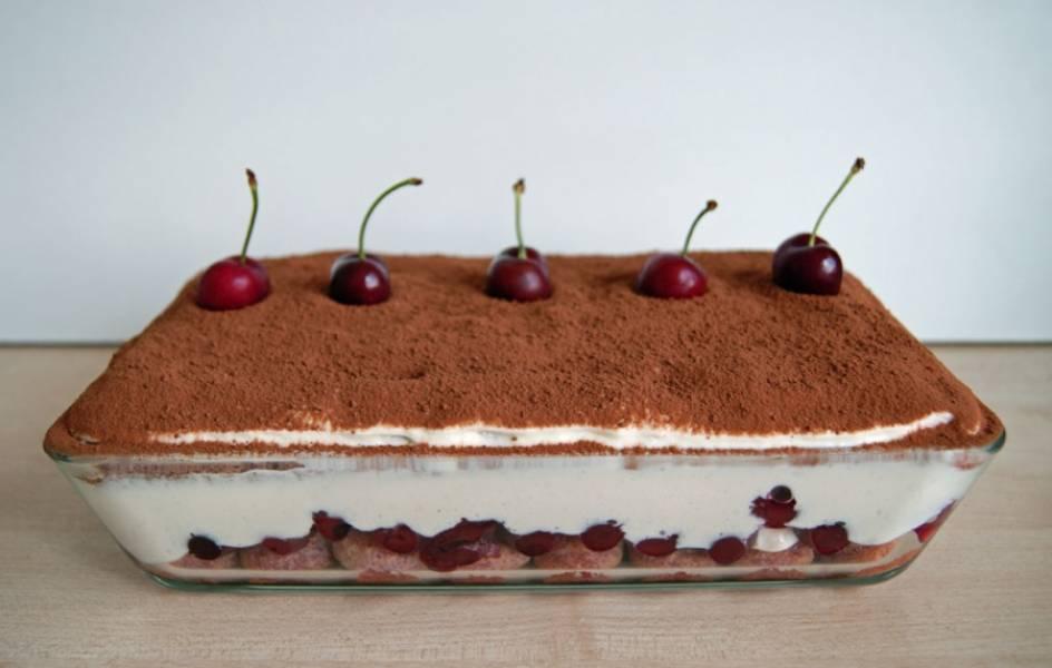 Кстати, можете украсить свежими или карамелезированными вишнями. Приятного аппетита!