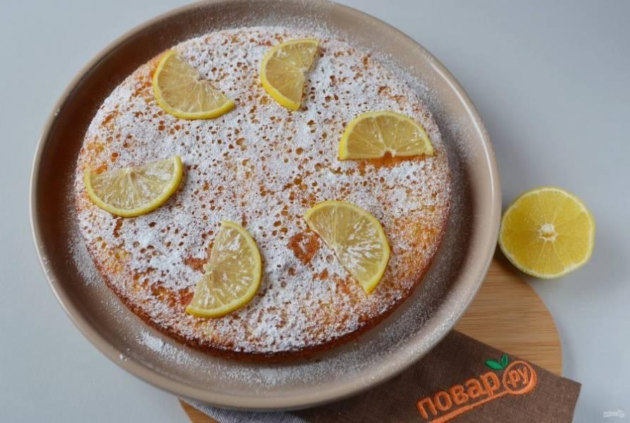 11. Украсьте дольками лимона, притрусите сахарной пудрой и пробуйте!