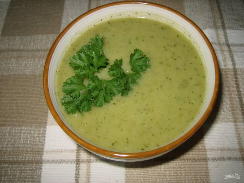 Суп-пюре из стручковой фасоли