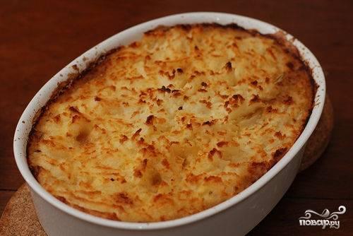 Пирог на кефире с картошкой